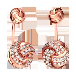 结系列玩趣珠宝耳饰